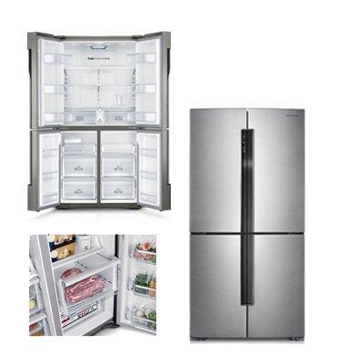 מקרר 4 דלתות  תוצרת Samsung דגם RF905QBLASP