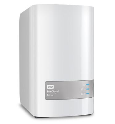 דיסק קשיח חיצוני ענן MY CLOUD MIRROR בנפח 6TB בחיבור מהיר USB 3.0 מבית WD דגם WDBWVZ0060JWT