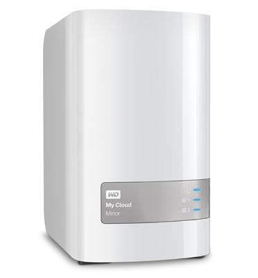 דיסק קשיח חיצוני ענן MY CLOUD MIRROR בנפח 4TB בחיבור מהיר USB 3.0 מבית WD דגם WDBWVZ0040JWT