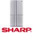 מקרר 4 דלתות נפח 615 ליטר תוצרת SHARP מהסדרה החדשה דגם SJR8710