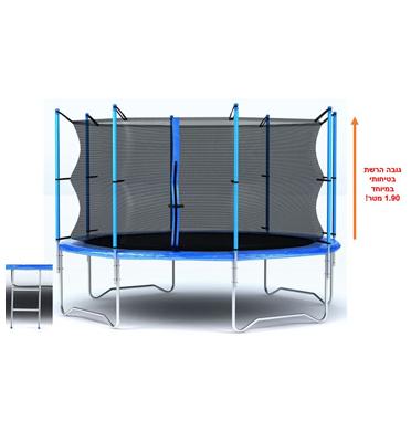 """טרמפולינה ענקית מקצועית ,איכותית ובטיחותית הכוללת רשת קוטר 305 ס""""מ / 10 פיט מבית EVER-YOUNG"""