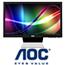 """מסך מחשב  """"23.6 LED בעיצוב דק ומרשים במיוחד ULTRA SLIM תוצרת AOC דגם E2462VW"""