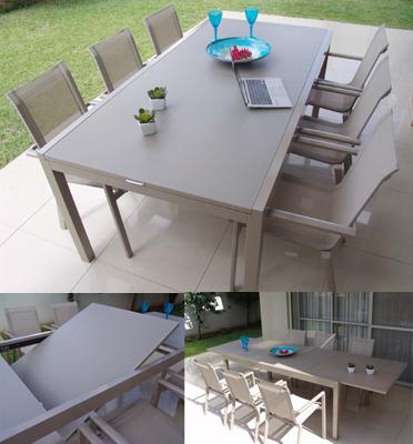 מערכת גן מפוארת כוללת שולחן מלבני מעוצב תוצרת SCAB דגם emrald