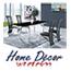 פינת אוכל מעוצבת הכוללת שולחן מזכוכית + 4 כסאות מתכת תואמים HOME DECOR דגם דרור