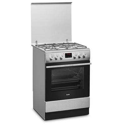 תנור אפיה משולב כיריים 4 להבות בגימור נירוסטה תוצרת SAUTER דגם SAF1063IX