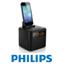 רדיו שעון מעורר עם תחנת עגינה אוניברסלית למכשירי אייפון ואנדרואיד תוצרת Philips דגם AJ3200
