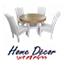 פינת אוכל עגולה נפתחת הכוללת שולחן ו-4 כסאות מרופדים HOME DECOR דגם רונית