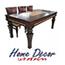 פינת אוכל נפתחת הכוללת שולחן מפואר + 6 כסאות HOME DECOR דגם איילת