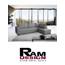 מערכת ישיבה פינתית בעיצוב עכשוי ונקי מבית רם דיזיין דגם שונית
