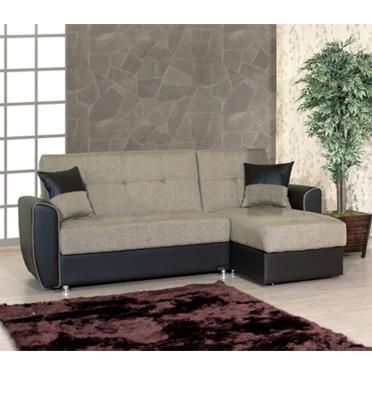 מערכת ישיבה פינתית נפתחת למיטה עם ארגז מצעים מבית רהיטי דפנה דגם חרצית