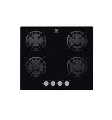 כיריים גז משטח זכוכית 4 להבות בצבע שחור תוצרת Electrolux דגם EGT6247NOK