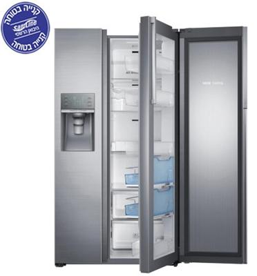 מקרר 829 ליטר SBS אינוורטר דלת כפולה ShowCase תוצרת Samsung דגם RH77H90507F/ML