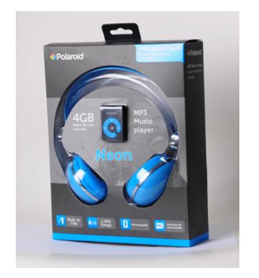 אוזניות קשת מעוצבות עם נגן MP3 תוצרת POLOROID דגם PMP-84