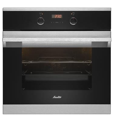 תנור אפיה בנוי 10 תוכניות תוצרת SAUTER דגם SAI1080 בצבע נירוסטה/לבן