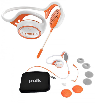 אוזניות עורף ספורטיביות מתאים ל iPhone iPod iPad מבית POLKAUDIO דגם ULTRAFIT-2000