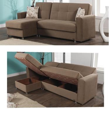 ספה פינתית נפתחת למיטה עם ארגזי מצעים מבית רהיטי דפנה דגם ארז