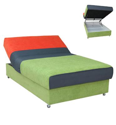 מיטה ברוחב וחצי סופר אורטופדית עם גלגלי סיליקון וארגז מצעים ענק מעוצב מבית OR DESIGN דגם לירון