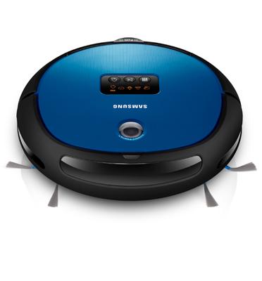 שואב אבק רובוט עם מסך לחיווי הפונקציות תוצרת Samsung דגם SR8730 גימור כחול תצוגה \עודפים