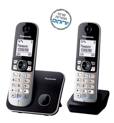 טלפון  אלחוטי DECT  דיגיטלי מתקדם  ושלוחה תוצרת panasonic דגם  KX-TG6812