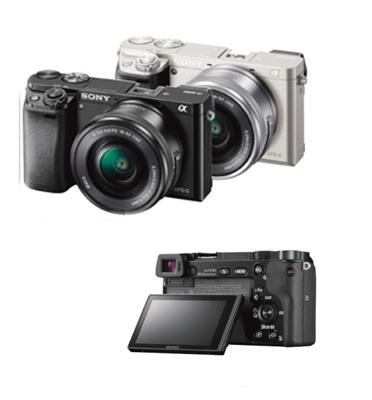 מצלמה ללא מראה 24.3MP מסדרת Alpha A6000 עדשה 55-210 + 16-50 תוצרת Sony דגם ILC E6000YB