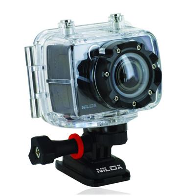 מצלמת אקסטרים FULL HD סטילס ווידאו מארז עמיד למים כולל אביזרים תוצרת NILOX דגם FOOLISH