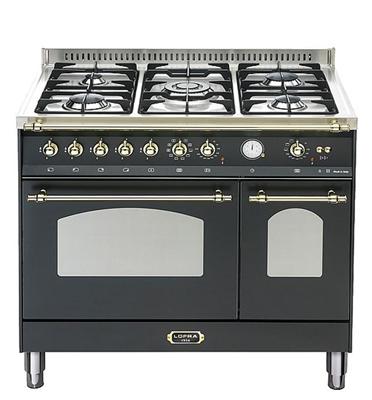 """תנור משולב כיריים דו תאי בעיצוב כפרי ברוחב 90 ס""""מ תוצרת LOFRA דגם RNMD96MFTE/CI"""