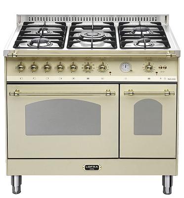 """תנור משולב כיריים דו תאי בעיצוב כפרי ברוחב 90 ס""""מ תוצרת LOFRA דגם RBID96MFE/CI"""