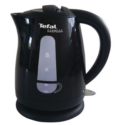 קומקום פלסטיק שחור הספק 2400 W נפח 1.5 ליטר תוצרת Tefal דגם KO2998