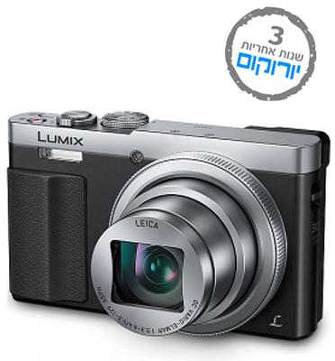 """מצלמה קומפקטית 12MP מסך 3"""" זום ענק X30 כולל WiFi תוצרת Panasonic דגם DMC - TZ70"""