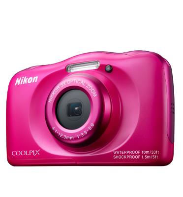 מצלמה עמידה בפני מים 13MP חיישן CMOS כולל וידאו HD תוצרת NIKON דגם COOLPIX S33