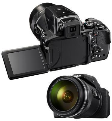 מצלמה מובנית ב-Wi-Fi וב-NFC זום אופטי של X83 תוצרת NIKON דגם COOLPIX P900