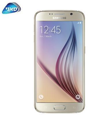 """סמארטפון 5.1"""" 32GB מצלמה 16MP תוצרת Samsung דגם Galaxy S6 SM G920F"""
