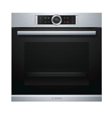 תנור אפיה בנוי סגירת ופתיחת דלת רכה בגימור נירוסטה מסדרה 8 תוצרת בוש דגם HBG632BS1Y