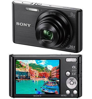 מצלמת סטילס חיישן בעל 20.1MP זום X 8 תוצרת SONY דגם DSC-W830