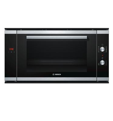 """תנור אפיה בנוי ברוחב 90 ס""""מ מפואר 9 תכניות בגימור נירוסטה תוצרת בוש דגם HVA531NS0"""
