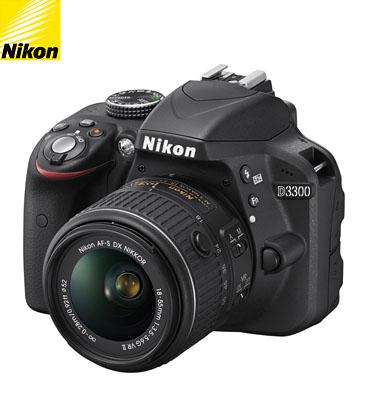 מצלמת DSLR מקצועית 24.2MP חיישן CMOS + עדשה 18-55AFP תוצרת NIKON דגם D3300