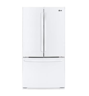 מקרר 3 דלתות בנפח 715 ליטר מדחס אינוורטר בצבע לבן תוצרת LG דגם GRB261MAW