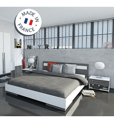 """מיטה זוגית מתאימה למזרן 160x200 ס""""מ ו- 2 שידות תוצרת HOME DECOR דגם אפרת"""