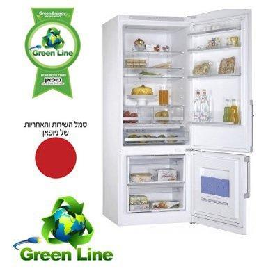 מקרר עם מקפיא תחתון 508 ליטר NO-frost תוצרת Green Line מבית ניופאן דגם GRLR570W