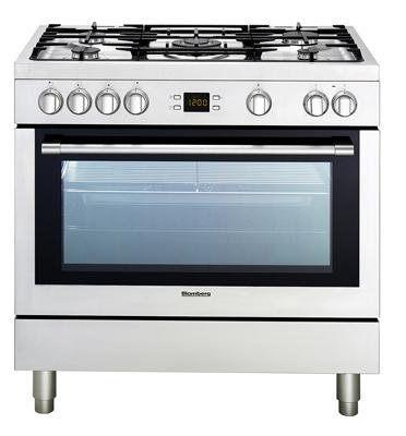 """תנור אפיה משולב כיריים ברוחב 90 ס""""מ מולטיסיסטם תוצרת Blomberg דגם BGM15320"""