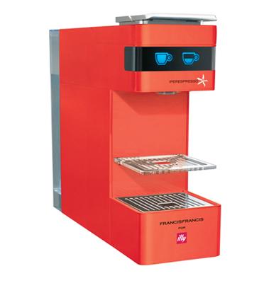 מכונת אספרסו לקפה איטלקי אמיתי  מבית illy דגם Y3 בגימור אדום +זוג ספלים ממותגים מתנה!