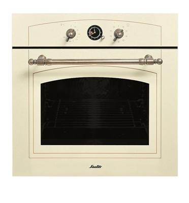 תנור אפיה בנוי בעיצוב רטרו כפרי בצבע קרם תוצרת SAUTER. דגם SAI1072