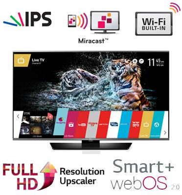 טלוויזיה ''43 LED Smart TV Slim FHD עם פאנל IPS+ממשק webOS 2.0 תוצרת LG דגם 43LF630Y