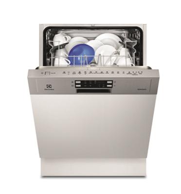 מדיח כלים חצי אינטגרלי רחב ל-13 מערכות כלים תוצרת Electrolux דגם ESI5510LAX