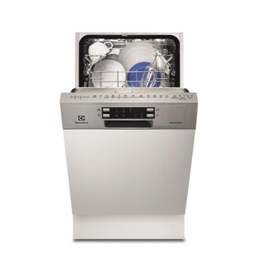 """מדיח כלים צר חצי אינטגרלי 45 ס""""מ ל-9 מערכות כלים תוצרת Electrolux דגם ESI4500LOX"""