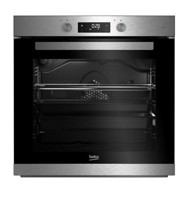 תנור אפייה בנוי 8 תוכניות עם תא אפייה גדול במיוחד 74 ליטר תוצרת BEKO. דגם BIM32300XMS