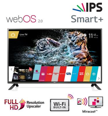 """טלוויזיה 55"""" LED Smart TV Slim FHD עם פאנל IPS+ממשק webOS תוצרת LG דגם 55LF630Y"""