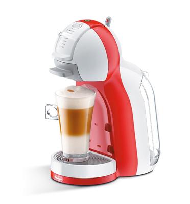 מכונת קפה Nescafe Dolce Gusto MINI ME בצבע אדום משולב לבן מבית DELONGHI דגם EDG305.WR
