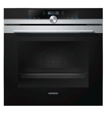 תנור אפיה בנוי 13 תכניות סגירה ופתיחה רכה בגימור נירוסטה מסדרת iQ700 סימנס דגם HB634GBS1