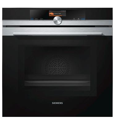 תנור בנוי 13 תוכניות משולב מיקרוגל בגימור נירוסטה מסדרת iQ700 תוצרת סימנס דגם HM656GBS1Y